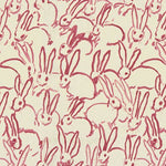 Groundworks Hutch Print Pink Fabric