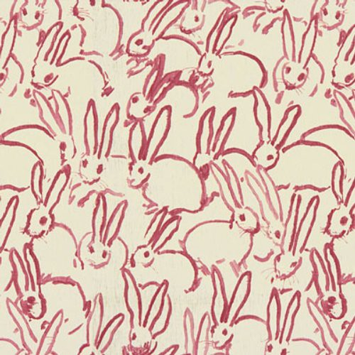 Groundworks Hutch Print Pink Fabric - Fabric