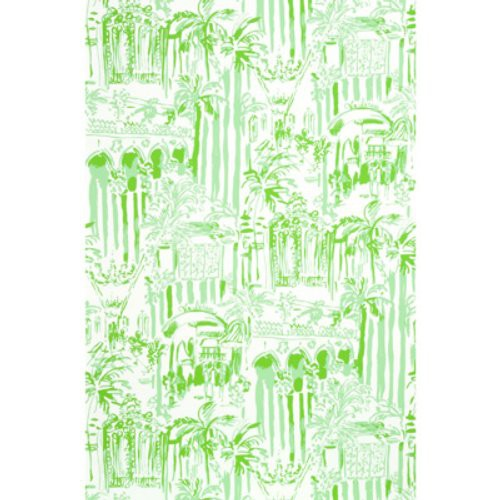 Lee Jofa La Via Loca Palm Green Wallpaper - Wallpaper