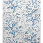Brunschwig & Fils Bird And Thistle Cotton Print Blue Fabric