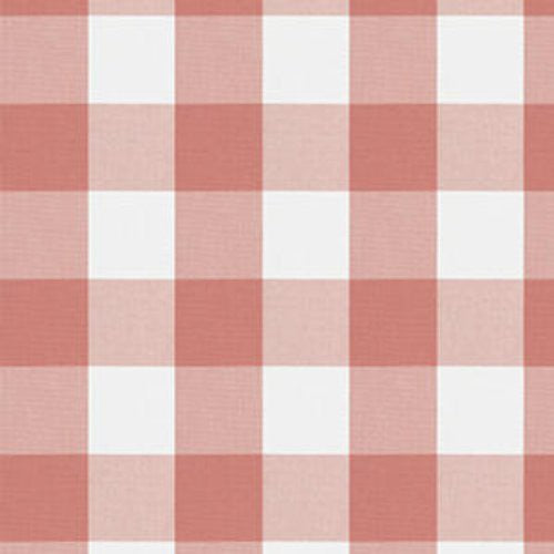 Fabricut Camping Check Coral Fabric - Fabric