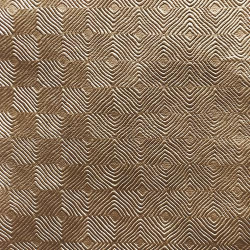 Old World Weavers Cuir Mosaique Bronze Fabric - Fabric