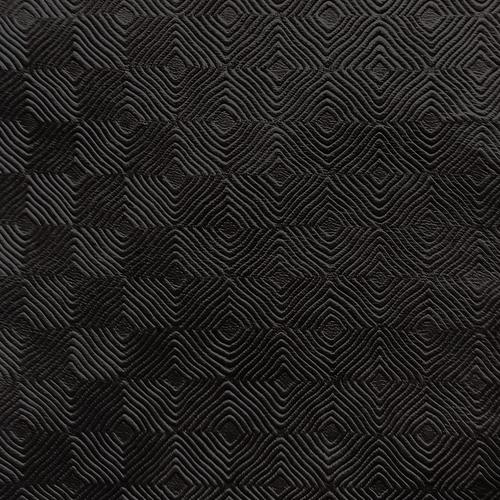 Old World Weavers Cuir Mosaique Black Fabric - Fabric