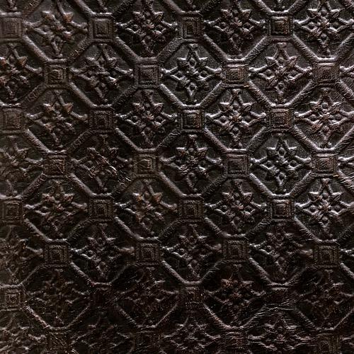 Old World Weavers Cuir Etoile Black Fabric - Fabric