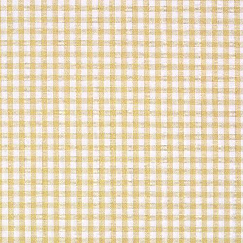 Old World Weavers Poker Check Goldenrod Fabric - Fabric