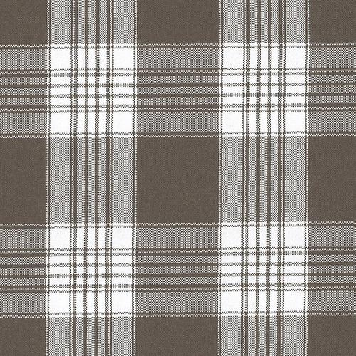 Old World Weavers Poker Plaid Espresso Fabric - Fabric