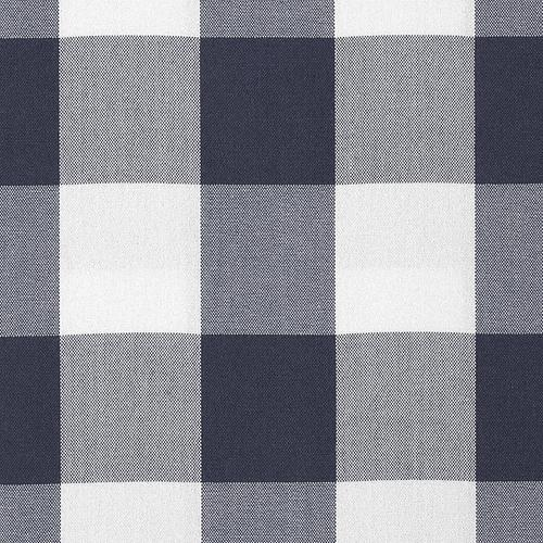Old World Weavers Poker Large Plaid Ink Fabric - Fabric