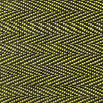 Old World Weavers Milzig Herringbone - Horsehair Chartreuse / Black Fabric