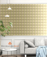 Scalamandre Tea Squares - Rv Silver/Champagne Wallpaper