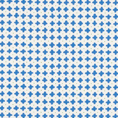 Schumacher Polka Blue Fabric - Fabric