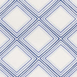 Schumacher Square Dance Blue Fabric