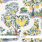 Schumacher Citrus Garden Sheer Primary Fabric