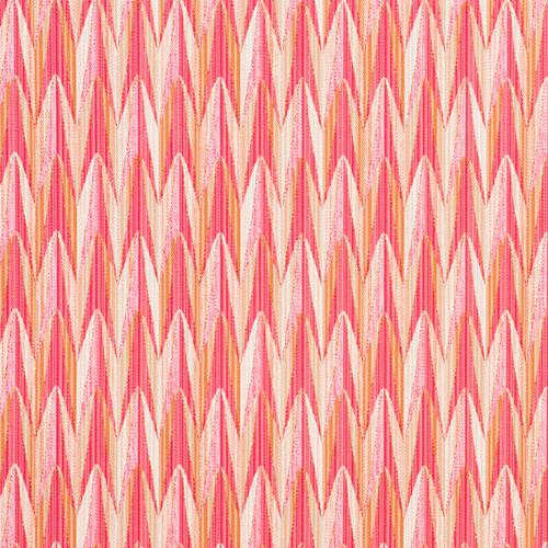 Schumacher Verdant Pink & Orange Fabric - Fabric