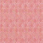 Schumacher Diamond Strie Pink & Orange Fabric