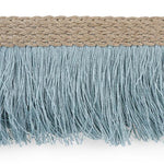Schumacher Braided Linen Fringe Sky Trim