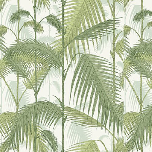 Cole & Son Palm Jungle Leaf Green & Olive Fabric - Fabric