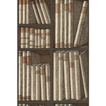 Cole & Son Ex Libris Oat/Charcoal Wallpaper