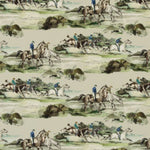 Mulberry Morning Gallop Velvet Racing Green Fabric