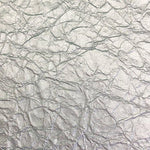 Scalamandre Crinkled Silver White Gold Wallpaper