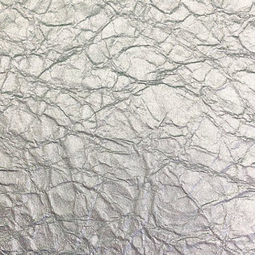 Scalamandre Crinkled Silver White Gold Wallpaper - Wallpaper