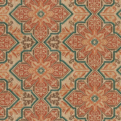 Waverly Crystalline Embroidery Jasper Fabric - Fabric