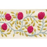 Schumacher Ashoka Tape Magenta & Leaf Trim