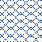 Schumacher Fretwork Flower Pacific Fabric