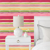 Clarke & Clarke Sunrise Stripe Multi Wallpaper