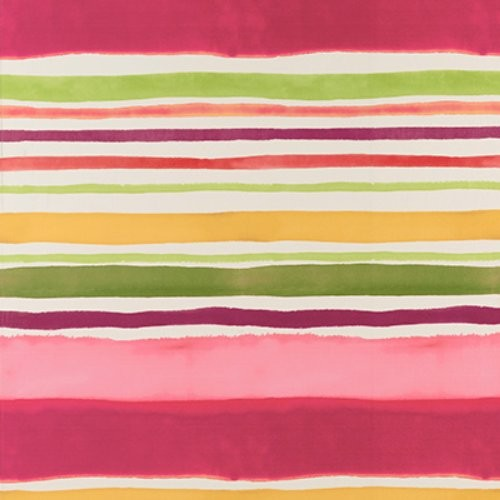 Clarke & Clarke Sunrise Stripe Multi Wallpaper - Wallpaper