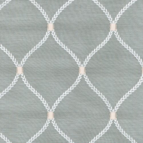 Williamsburg Dabney Emb Sterling Fabric - Fabric