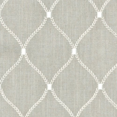 Williamsburg Deane Embroidery Flint Fabric - Fabric