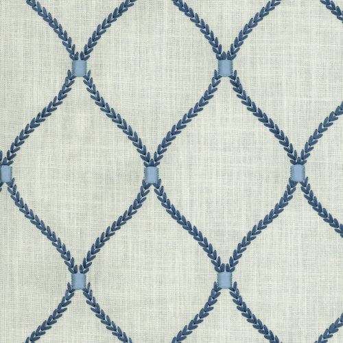 Williamsburg Deane Embroidery Porcelain Fabric - Fabric