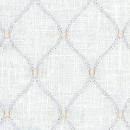Williamsburg Deane Embroidery Sterling Fabric - Fabric