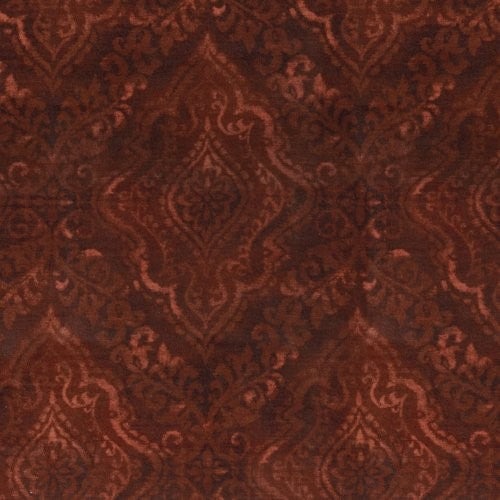 Pkl Studio Diamond Damask Merlot Fabric - Fabric