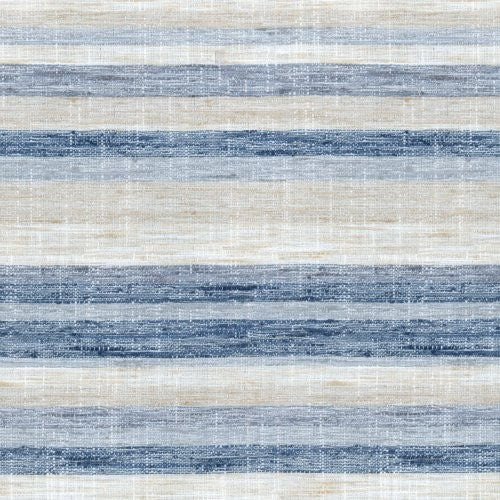 Novogratz Faded Stripe Indigo Fabric - Fabric