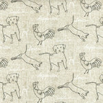 Ed Ellen Degeneres Happy Animals Parchment Fabric