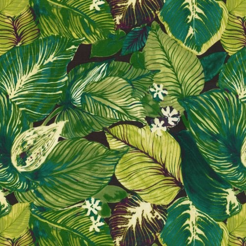 Tommy Bahama Home Lush Leaf Evening Sky Fabric - Fabric