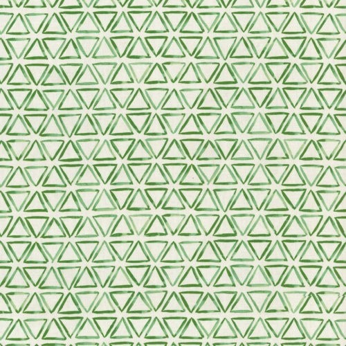 Waverly Painted Triangles Verte Fabric - Fabric