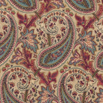 Williamsburg Plumtree Paisley/ Currant Fabric