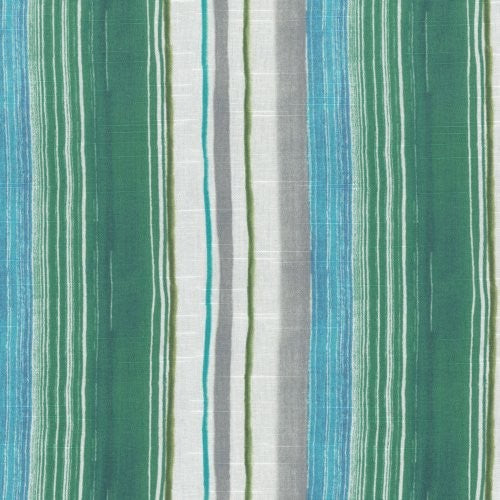 Tommy Bahama Home Seascape Stripe Verde Fabric - Fabric