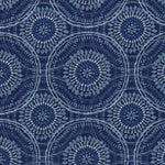 Kelly Ripa Home Spiral Graph Bluejay Fabric