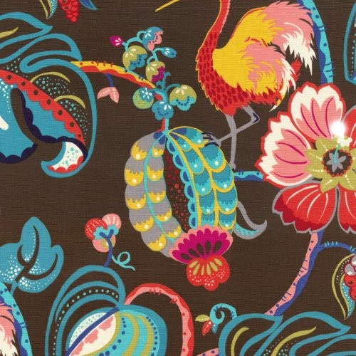 Genevieve Gorder Tropical Fete Onyx Fabric - Fabric