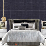 Phillip Jeffries Savile Suiting Plaid  White On Navy On Navy Wallpaper