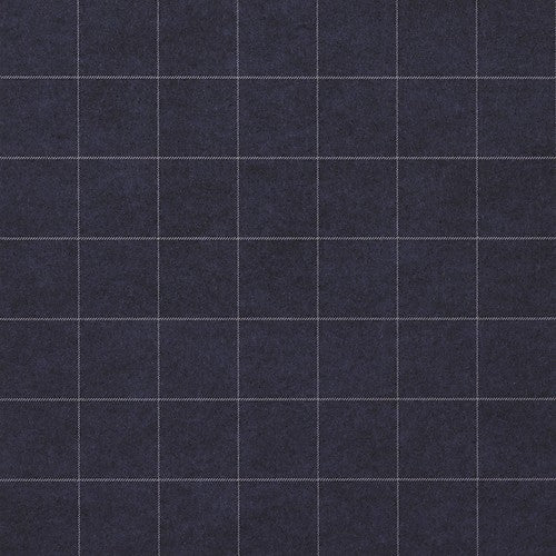 Phillip Jeffries Savile Suiting Plaid  White On Navy On Navy Wallpaper - Wallpaper