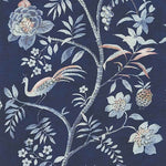 Phillip Jeffries Shangri-La Imperial Blue On White Manila Hemp Wallpaper