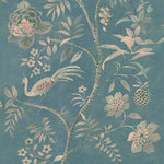 Phillip Jeffries Shangri-La Euphoric Teal On Cotton Canvas Linen Wallpaper