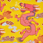 Schumacher Magical Ming Dragon Yellow Fabric