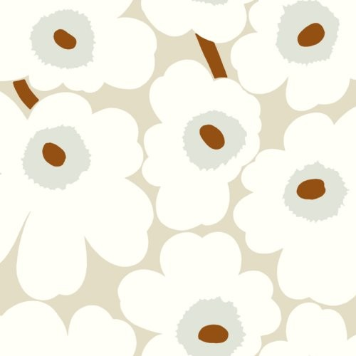 Marimekko Unikko Gray And Caramel Wallpaper - Wallpaper