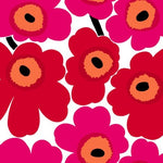 Marimekko Unikko Scarlet And Coral Wallpaper