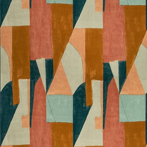 Groundworks District Apricot Fabric - Fabric